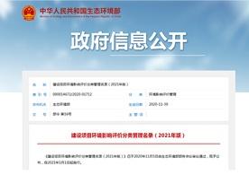 生态和记ios客户端部发布《建设项目和记ios客户端影响评价分类管理名录(2021年版)》的公告